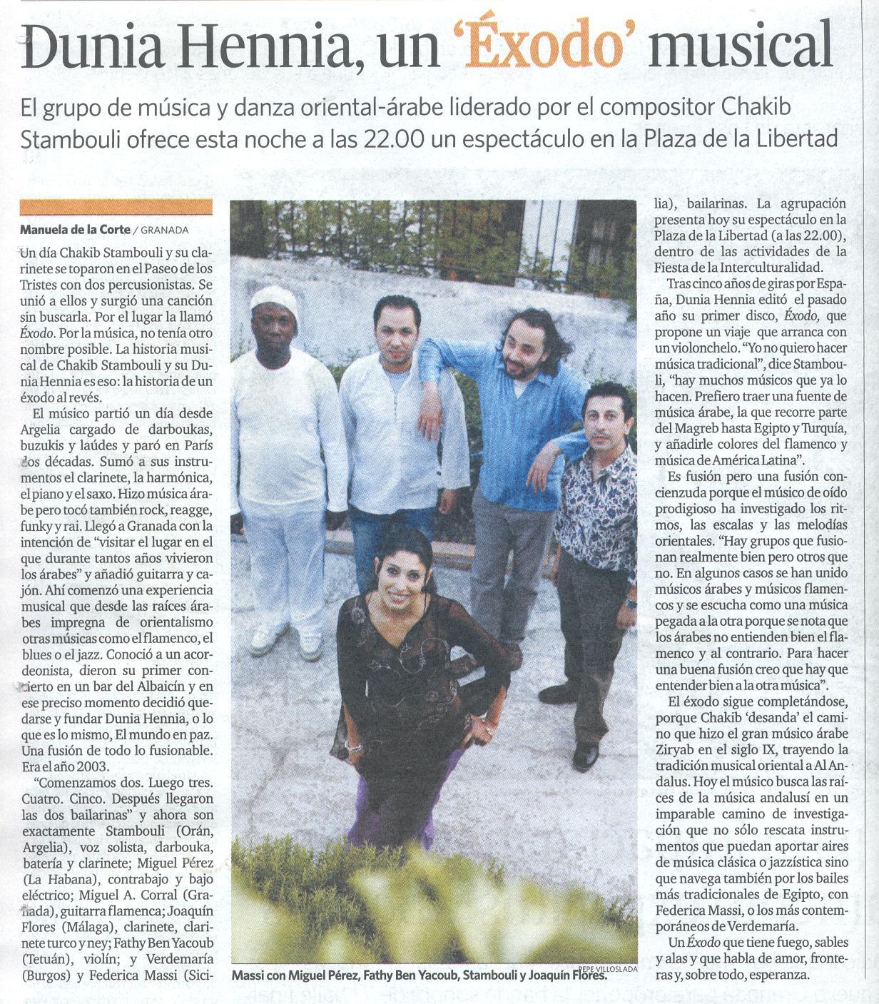 Articulo del Granada Hoy